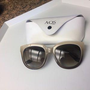 AQS by Aquaswiss Piper 55mm Sunglasses Beige Gold